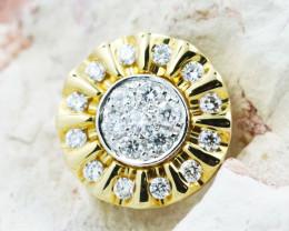 18K Yellow Gold Diamond Pendant - H109 - P11592