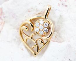 18K Rose Gold Diamond Pendant - H117 - P11677