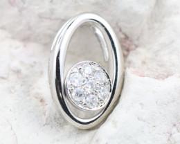 18K White Gold Diamond Pendant - H125 - P11873