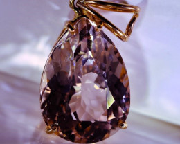 Imperial Topaz 16.03ct Solid 22K Yellow Gold Pendant
