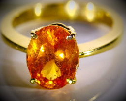 Mandarin Spessartine Garnet 4.00ct Solid 22K Yellow Gold Ring