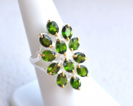 Fantastic Chrome Diopside Ring in Sterling Silver