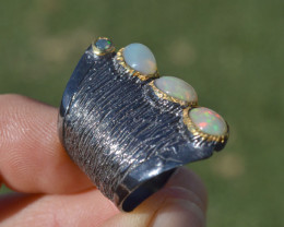 Fantastic Opal Ring in Sterling Silver