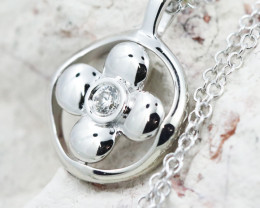 18K White Gold Diamond Necklace - H141 - N11896