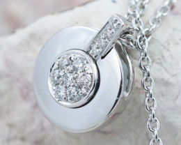18K White Gold Diamond Necklace - H143 - N11547