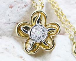 18K Yellow Gold Diamond Necklace - H149 - N11875