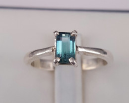 Natural Indicolite Tourmaline beautiful Ring.