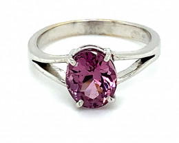 Purple Tunduru Spinel 2.80ct Solid 18K White Gold Ring