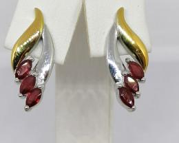 Natural Ruby Earrings 1.50 TCW