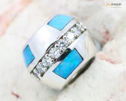 Fire Opal Bracelet Charm - CH323
