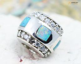 Fire Opal Bracelet Charm - CH325