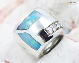 Fire Opal Bracelet Charm - CH326