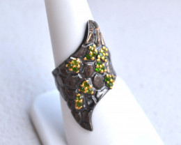 Chrome Diopside Ring in Sterling Silver