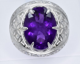 50.92 Crt Natural Amethyst925 Silver Ring ( RK 01 )