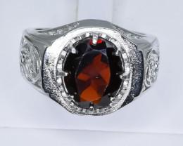 39.69 Crt Natural Garnet 925 Silver Ring ( RK 01 )