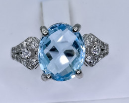 20.20 Crt Natural Topaz 925 Silver Ring ( RK 01 )