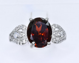 19.45 Crt Natural Garnet 925 Silver Ring ( RK 01 )