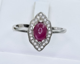 14.33 Crt Ruby 925 Silver Ring ( RK 01 )