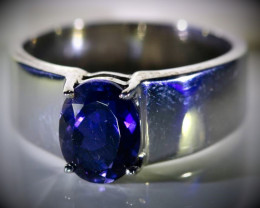 Iolite 1.40ct Solid 925 Sterling Silver Ring