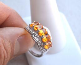 Fantastic Spessartite Garnet Ring in Sterling Silver