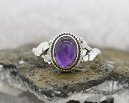 AMETHYST RING 925 STERLING SILVER NATURAL GEMSTONE JR475