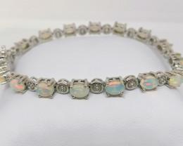 Welo Opal And Zircon Bracelet 6.57 TCW
