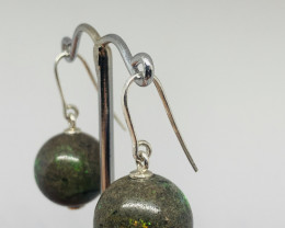 Beautiful Australian Andamooka Matrix and Sterling Silver Earrings (z3528))