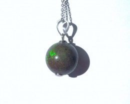 Australian Andamooka Matrix Opal and Sterling Silver Pendant (z3530)
