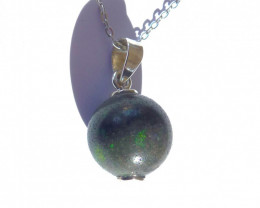 Beautiful Australian Andamooka Matrix Opal & Sterling Silver Pendant (z3525