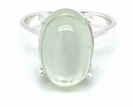 Cats Eye Moonstone 9.20ct Platinum Finish Solid 925 Sterling Silver Ring