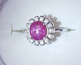 Natural Star Ruby Ring.