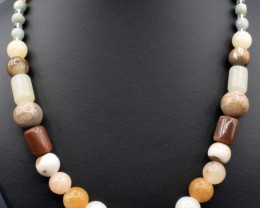 Natural Multi Color Beads Necklace