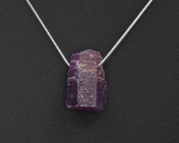 Natural Ruby Crystal Pendant with 925 Silver Chain