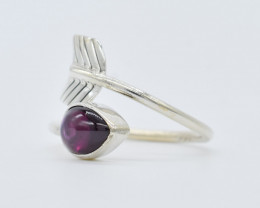 GARNET RING 925 STERLING SILVER NATURAL GEMSTONE JR191