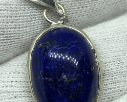 Natural Lapis Lazuli Hand Made 925 Silver Pendant