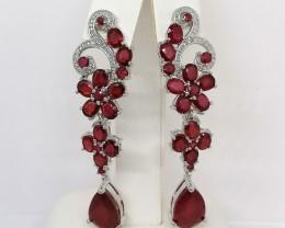 Ruby Drop Earrings 24.01 TCW