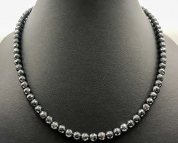 211 Crt Natural Hematite And Onyx Necklace