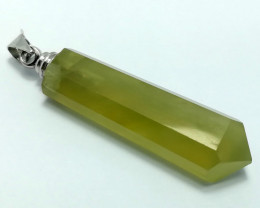 Natural Yellow Solar Crystal Pendant 38 Cts