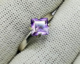 Natural Purple Amethyst 7.30 Carats 925 Silver Ring