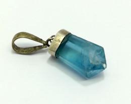 Natural Blue Flourite 18.95 Carats Pendant