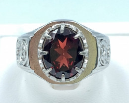 41.95 Crt Natural Garnet With 925 Silver Ring