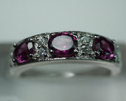 92.5 Crt Rodolight Ring  And Solid Silver Cz  18.20 Crt