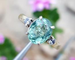 3.23 carat Natural Paraiba tourmaline Ring