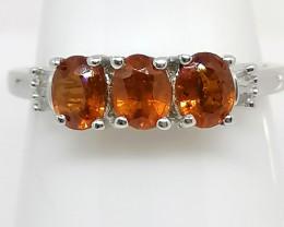 Rare Nani Hill Orange Kyanite and Diamond Ring 1.28 TCW