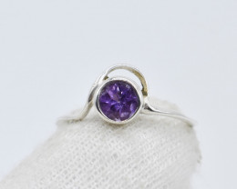 AMETHYST RING 925 STERLING SILVER NATURAL GEMSTONE GR116