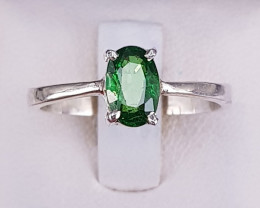 Natural Tsavorite Ring in Silver