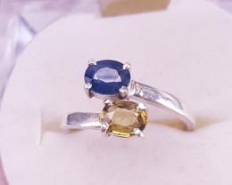 Natural Alexandrite & Sapphire Ring.