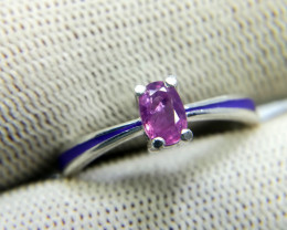 Natural Kashmir Sapphire 12.40 Carats 925 Silver Ring