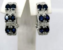 Natural Sapphire Earrings 2.50 TCW