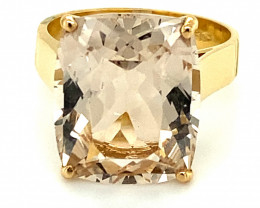 Imperial Topaz 14.45ct Solid 18K Yellow Gold Ring